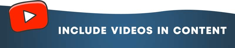 include videos in content